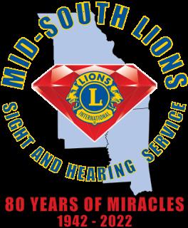 MID-SOUTH LIONS 8TH ANNIVERSARY LOGO